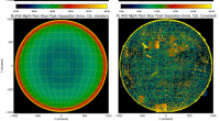 Graphic image depicting SDO and IRIS full-disk observations