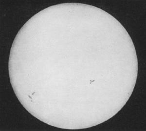 first daguerrotype of the Sun image