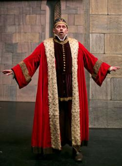Phil performing as the Duke of Verona