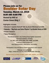 Image of Boulder Solar Day 2019 Poster