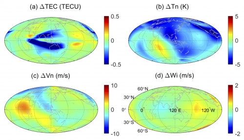 Long-lasting response of the global thermosphere and ionosphere image