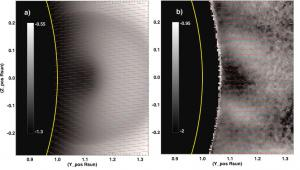 Line-of-sight-integrated Stokes linear polarization image