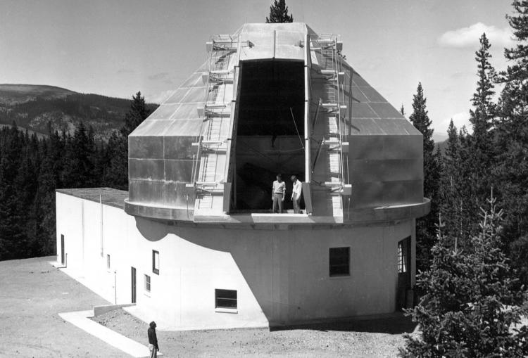 Chalk Mountain dome in 1954