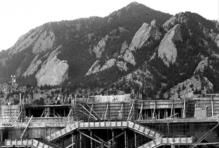 Construction of the NCAR Mesa Lab in Boulder, 1965