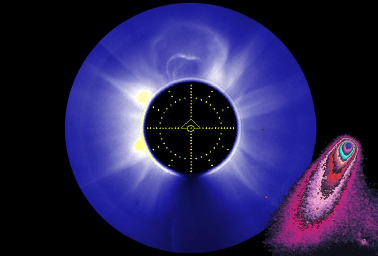 HAO's coronagraph aboard the SMM satellite records a CME and Halley's Comet