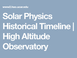 Text image: Solar Physics Historical Timeline